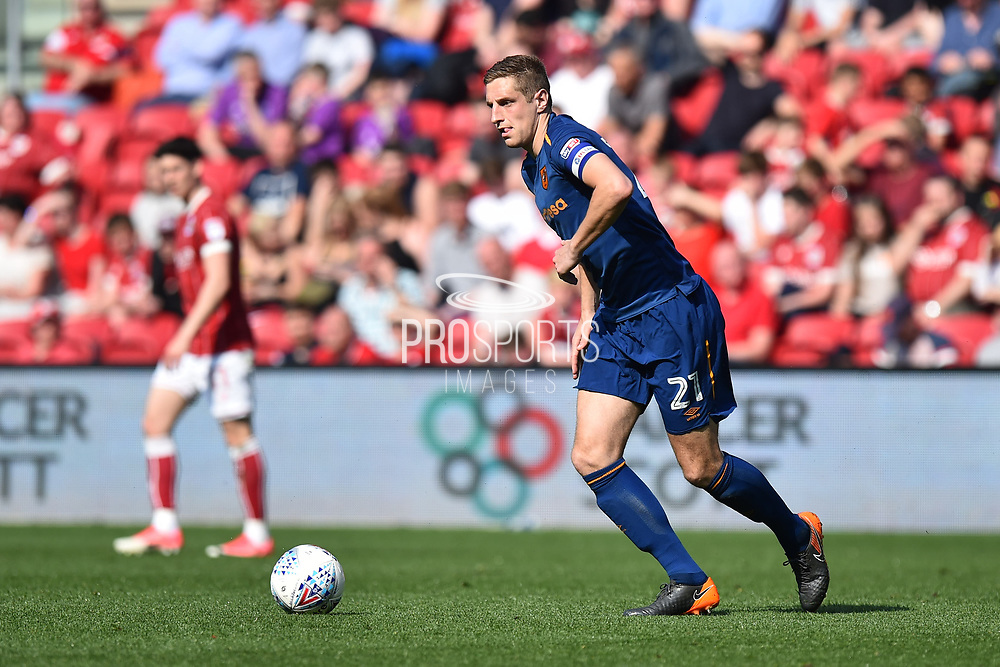 Michael Dawson (21) of Hull City during the EFL Sky Bet Championship match between Bristol City and Hull City at Ashton Gate, Bristol, England on 21 April 2018. Picture by Graham Hunt.