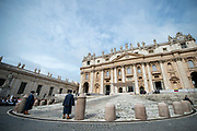 A general view of Saint peter's Basilica during Pope Francis weekly general audience in Saint Peter's Square at the Vatican on May 23, 2018.