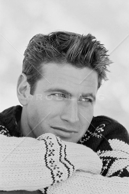 Groomed man in a winter sweater