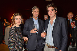 Left to right, AUGUSTA BRUCE, MARCUS DE FERRANTI and HUBERT CECIL at a lecture featuring Don McCullin talking on War and Peace with Kate Silverton in aid of TUSK at Christie's, 8 King Street, London on 9th December 2015.
