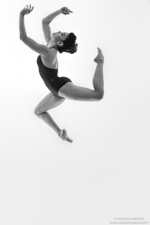 Black and white dance photography-Air Tumble -featuring ballerina Zui Gomez