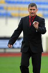 Coach Marijan Pusnik at 26th Round of Slovenian First League football match between NK Domzale and NK Rudar Velenje in Sports park Domzale, on April 4, 2009, in Domzale, Slovenia. (Photo by Vid Ponikvar / Sportida)