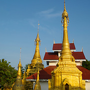 Chedi at Sriboonrueng Temple in Mae Sariang, Mae Hong Song, Thailand.