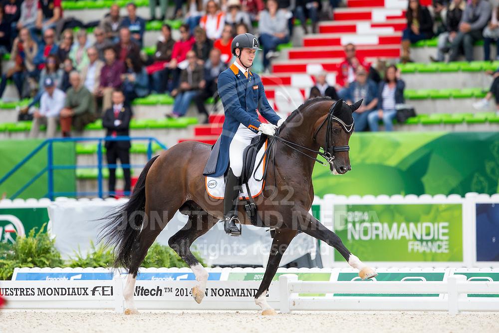 Diederik van Silfhout, (NED),  Arlando TN N.O.P. - Grand Prix Special Dressage - Alltech FEI World Equestrian Games&trade; 2014 - Normandy, France.<br /> &copy; Hippo Foto Team - Leanjo de Koster<br /> 25/06/14