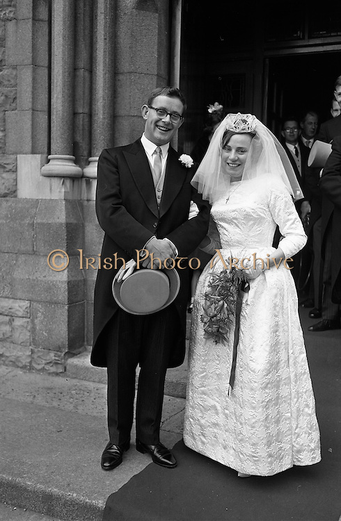 """19/09/1963<br /> 09/19/1963<br /> 19 September 1963<br /> Wedding of Colm A. O'Rahilly, A.C.A., """"Collin"""", Newtownpark Avenue, Blackrock, Dublin and Miss Mary Corcoran, 29 Prussia Street, North Circular Road, Dublin at the Church of the Holy Family, Aughrim Street, Stoneybatter, Dublin and reception at the Spa Hotel, Lucan, Co. Dublin."""
