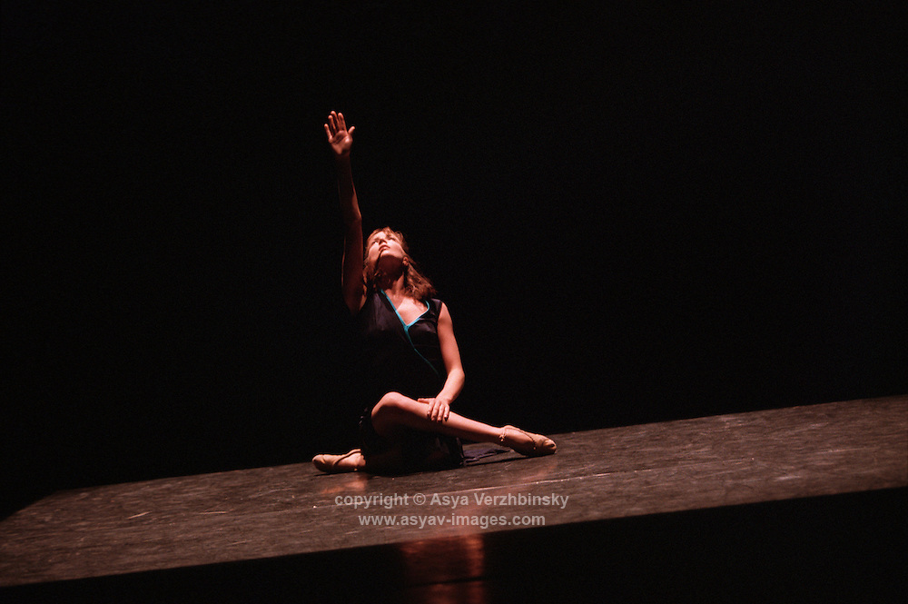 "ROH2 Artsit in residence, Cathy Marston's triple bill at the Linbury Studio Theatre.  Lauren Cuthbertson in ""Traces"""