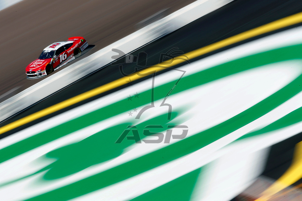Ryan Reed (16) takes to the track to practice for the Whelen Trusted to Perform 200 at ISM Raceway in Avondale, Arizona.