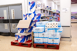 © Licensed to London News Pictures. 29/03/2020. London, UK. Supplies of toilet paper are back in stock during the Coronavirus outbreak.Photo credit: London News Pictures