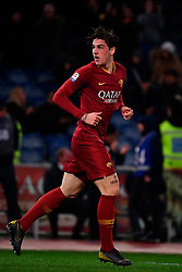 03.02.2019, Stadio Olimpico, Rom, ITA, Serie A, AS Roma vs AC Milan, 22. Runde, im Bild zaniolo // zaniolo during the Seria A 22th round match between AS Roma and AC Milan at the Stadio Olimpico in Rom, Italy on 2019/02/03. EXPA Pictures &copy; 2019, PhotoCredit: EXPA/ laPresse/ Alfredo Falcone<br /> <br /> *****ATTENTION - for AUT, SUI, CRO, SLO only*****