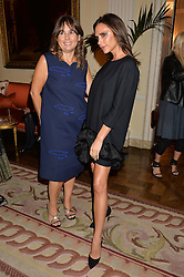 Left to right, ALEXANDRA SHULMAN and VICTORIA BECKHAM at a party hosed by the US Ambassador to the UK Matthew Barzun, his wife Brooke Barzun and editor of UK Vogue Alexandra Shulman in association with J Crew to celebrate London Fashion Week held at Winfield House, Regent's Park, London on 16th September 2014.