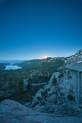 """""""Full Moon above Donner Lake 4"""" - This full moon was photographed rising above Donner Lake and Rainbow Bridge in Truckee, California."""