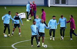 Raheem Sterling and Fabian Delph of Manchester City train with team mates - Mandatory by-line: Matt McNulty/JMP - 12/09/2017 - FOOTBALL - City Football Academy - Manchester, England - Feyenoord v Manchester City - Training Session - UEFA Champions League - Group F
