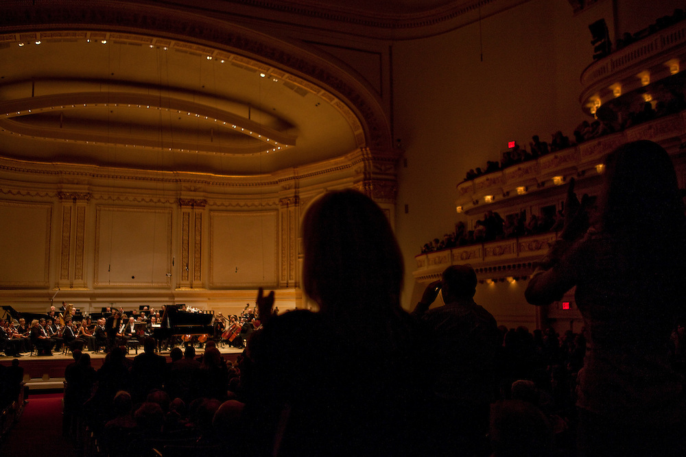 The Mariinsky Orchestra performs Three Selections from Romeo and Juliet by Sergei Prokofiev conducted by Valery Gergiev at the Isaac Stern Auditorium at Carnegie Hall in Manhattan, NY on October 11, 2011.