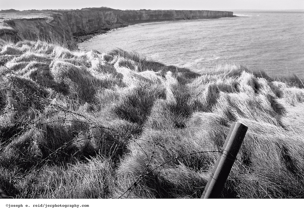 Barb wire and cliff, Pointe du Hoc, Normandy, 1993.