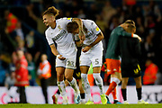Leeds United midfielder Kalvin Phillips (23) and Leeds United defender Ben White (5), on loan from Brighton & Hove Albion,  during the EFL Sky Bet Championship match between Leeds United and Brentford at Elland Road, Leeds, England on 21 August 2019.