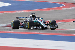 October 21, 2018 - Austin, TX, U.S. - AUSTIN, TX - OCTOBER 21: Mercedes driver Lewis Hamilton (44) of Great Britain enjoys open racing during the F1 United States Grand Prix on October 21, 2018, at Circuit of the Americas in Austin, TX. (Photo by Ken Murray/Icon Sportswire) (Credit Image: © Ken Murray/Icon SMI via ZUMA Press)