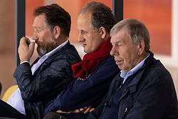 04-04-2018 NED: Draisma Dynamo - Abiant Lycurgus, Apeldoorn<br /> Lycurgus wint met 3-2 van Dynamo / Redbad Strikwerda op de tribune