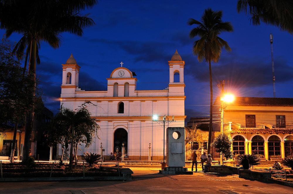 Iglesia Catoliga, Copan Ruinas, Central America, Honduras.