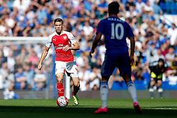 Gabriel Paulista of Arsenal in action - Mandatory byline: Rogan Thomson/JMP - 07966 386802 - 19/09/2015 - FOOTBALL - Stamford Bridge Stadium - London, England - Chelsea v Arsenal - Barclays Premier League.