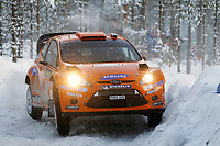 MOTORSPORT - WORLD RALLY CHAMPIONSHIP 2011 - RALLY SWEDEN / RALLYE DE SUEDE - 10 TO 13/02/2011 - KARLSTAD (SWE) - PHOTO : FRANCOIS BAUDIN /  DPPI - <br /> 05 HENNING SOLBERG / ILKA MINOR - FORD FIESTA RS WRC - M-SPORT STOBART FORD WORLD RALLY TEAM - ACTION