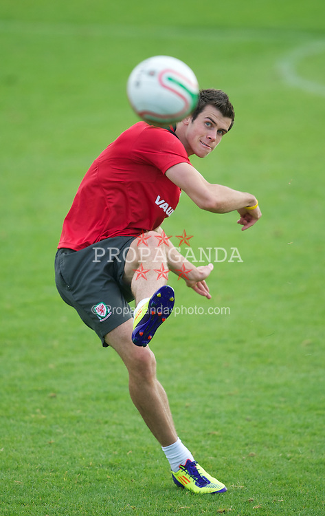 NEWPORT, WALES - Wednesday, August 31, 2011: Wales' Gareth Bale during a training session at the Newport Stadium ahead of the UEFA Euro 2012 Qualifying Group G match against Montenegro. (Pic by David Rawcliffe/Propaganda)
