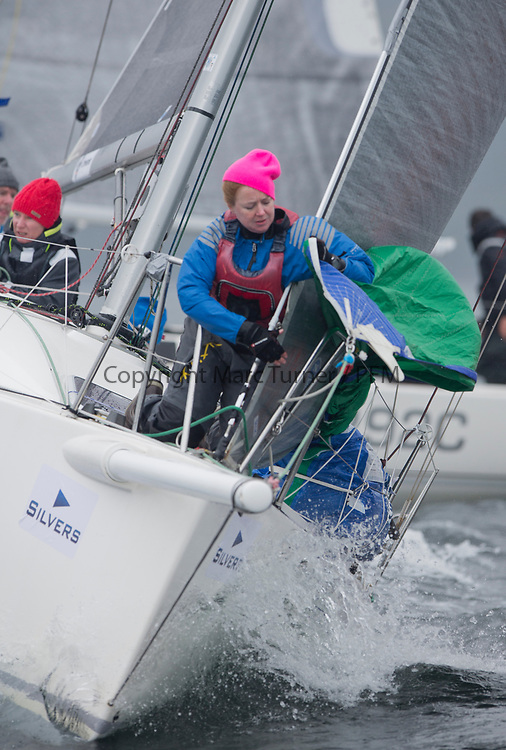 Silvers Marine Scottish Series 2017<br /> Tarbert Loch Fyne - Sailing<br /> <br /> IRL9970, Lambay Rules, Stephen Quinn, Howth Yacht Club, J97<br /> <br /> Credit: Marc Turner / CCC