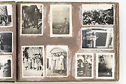 deteriorating family photo album France ca 1960s