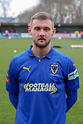 AFC Wimbledon attacker Shane McLoughlin (38) in home kit during the The FA Cup 5th round match between AFC Wimbledon and Millwall at the Cherry Red Records Stadium, Kingston, England on 16 February 2019.
