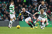 Dundee's James Vincent and Celtic's Gary Mackay-Steven - Celtic v Dundee in the Ladbrokes Scottish Premiership at Celtic Park, Glasgow. Photo: David Young<br /> <br />  - © David Young - www.davidyoungphoto.co.uk - email: davidyoungphoto@gmail.com