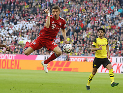 06.04.2019, Allianz Arena, Muenchen, GER, 1. FBL, FC Bayern Muenchen vs Borussia Dortmund, 28. Runde, im Bild Müller // during the German Bundesliga 28th round match between FC Bayern Muenchen and Borussia Dortmund at the Allianz Arena in Muenchen, Germany on 2019/04/06. EXPA Pictures © 2019, PhotoCredit: EXPA/ SM<br /> <br /> *****ATTENTION - OUT of GER*****