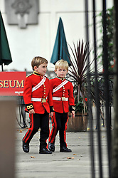 Page boys at the wedding of Nicholas Van Cutsem to Alice Hadden-Paton at The Guards Chapel, Wellington Barracks, London on 14th August 2009.