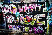 Graffiti Park, Austin, Texas, JDecember 29, 2014.