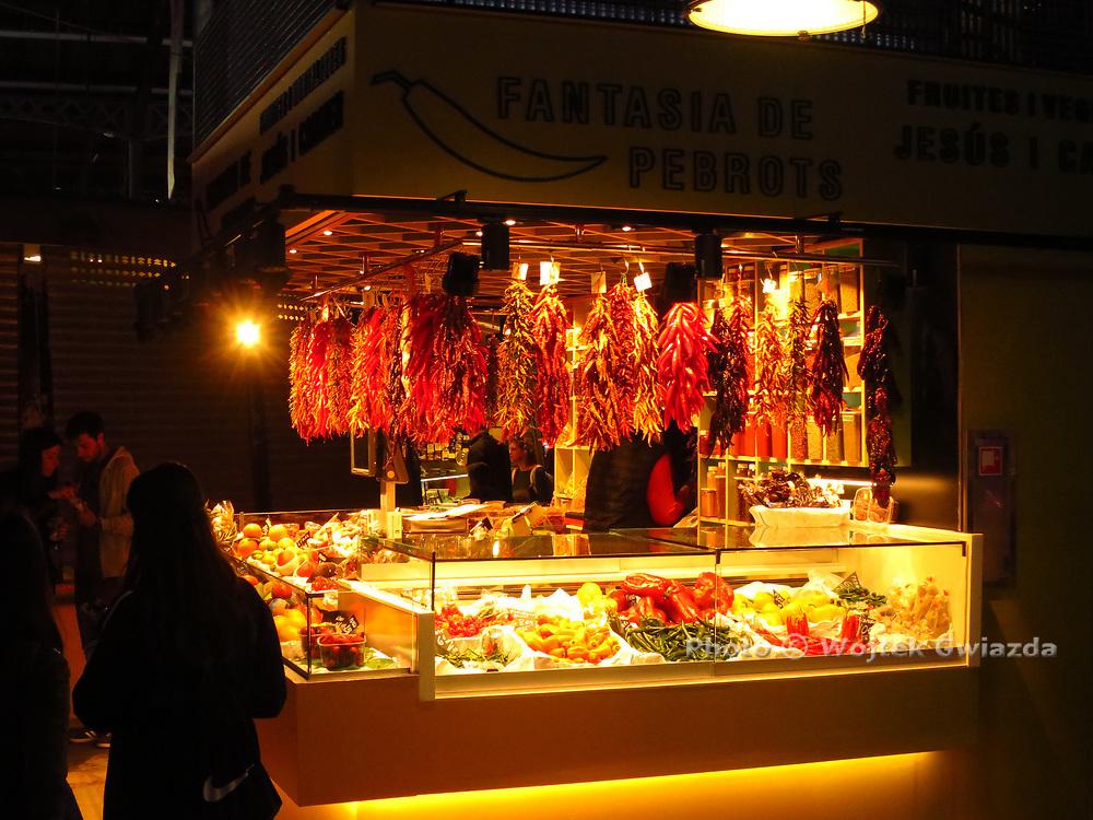 Mercado de La Boqueria on the Rambla de Sant Josep, Barcelona
