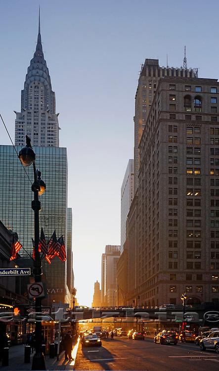 New day in New York City, Manhattan.