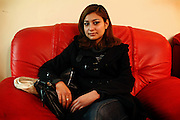 Somaya Rezaie, 20, a young Afghan actress whose career has been affected by having part of the movie where she acted subtracted and played along 'music clips' is portrayed in a friend's home in Kabul, Afghanistan. Women appearing on 'music clips' in Afghanistan can be seen as 'immoral' by the public, might face dangers while and their careers can also be at stake.