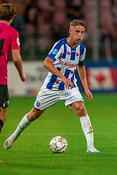 "Joey Veerman #20 of Heerenveen in action. FC Utrecht convincingly won the practice match against sc Heerenveen. The ""Domstedelingen"" were too strong for SC Heerenveen in Stadium Galgenwaard with 4-1<br /> on August 20, 2020 in Utrecht, Netherlands"