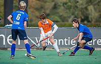 BLOEMENDAAL -  Joppe van Liebergen (Bldaal) tijdens de competitiewedstrijd hockey jongens B , Bloemendaal JB1-Breda JB1 (3-2)  , COPYRIGHT KOEN SUYK