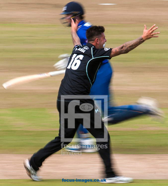 Jade Durnbach of Surrey CCC scores a hat trick during the Royal London One Day Cup Final match at Lord's, London<br /> Picture by Jack Megaw/Focus Images Ltd +44 7481 764811<br /> 19/09/2015