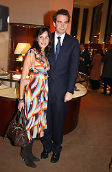 FRITZ VON WESTENHOLTZ and CAROLINE SIEBER at a party to celebrate the 2nd anniversary of Quintessentially magazine held at Asprey, Bond Street, London on 24th February 2005.<br />