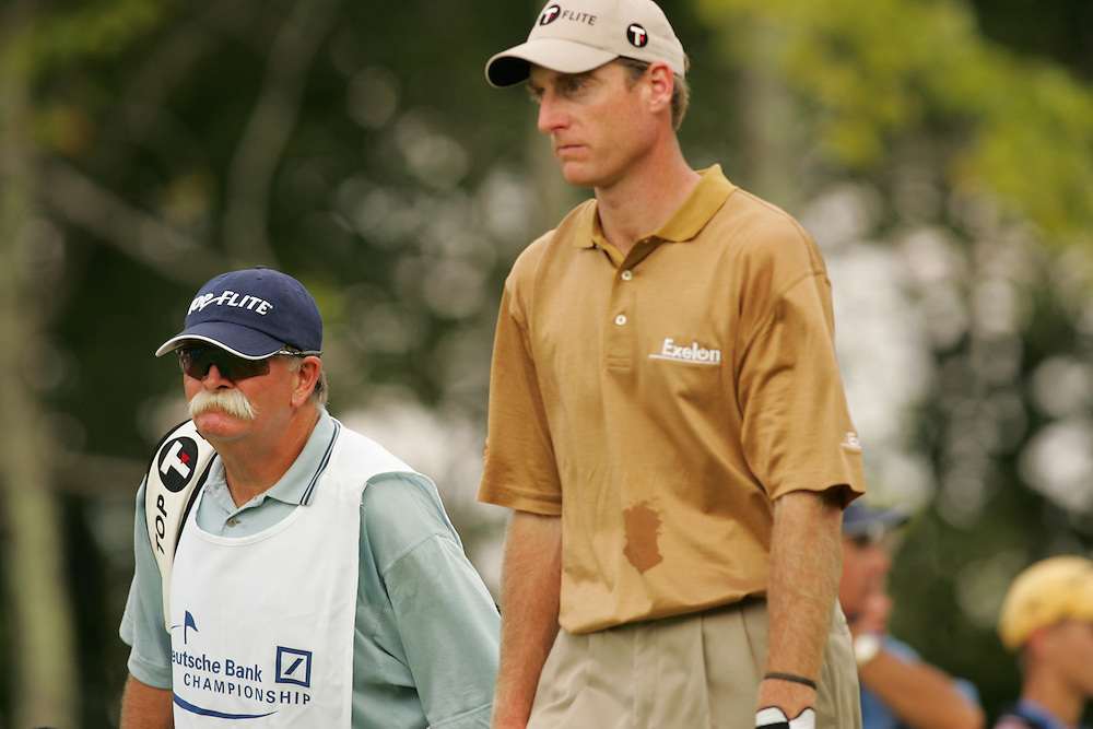 "Jim Furyk.Mike ""Fluff"" Cowan..2004 Deutsche Bank Championship.TPC of Boston.Norton, MA.Second Round.Saturday, September 6  2004..photograph by Darren Carroll"