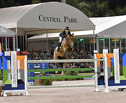 March 9, 2019 - Wellington, Florida, United States Of America - WELLINGTION, FL - MARCH 09: SATURDAY NIGHT LIGHTS: Kent Farrington participates The highlight event of week 9 at the 2019 Winter Equestrian Festival, the $391,000 Douglas Elliman Real Estate Grand Prix CSI 5*. The Winter Equestrian Festival (WEF) is the largest, longest running hunter/jumper equestrian event in the world held at the Palm Beach International Equestrian Center on March 09, 2019  in Wellington, Florida..People:  Kent Farrington. (Credit Image: © SMG via ZUMA Wire)