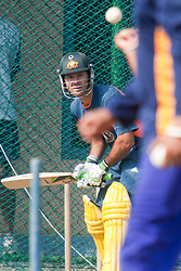 ©London News Pictures. 18/03/2011.Ricky Ponting faces up in the nets. Photo credit should read Asanka Brendon Ratnayake/London News Pictures