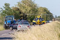 ELICOTTERO ELISOCCORSO 118 ELIAMBULANZA ELIMEDICA ELIRAVENNA<br /> INCIDENTE MORTALE UOMO IN BICICLETTA ARNALDO BIOLCATI RINALDI INVESTITO DA AUTO BMW SULLA STRADA ACCIAIOLI A LIDO NAZIONI