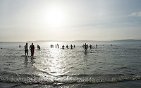 25/12/2015 Swimmers in Salthill  Galway taking part in the COPE annual Christmas Day swim  . Photo:Andrew Downes