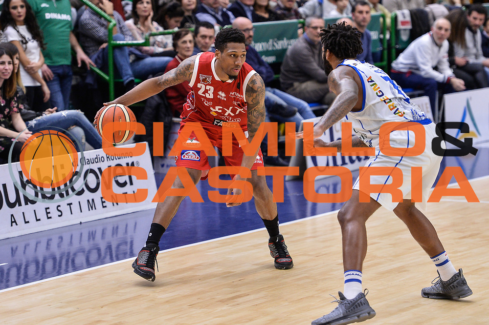 Chris Roberts<br /> Banco di Sardegna Dinamo Sassari - The Flexx Pistoia Basket<br /> Legabasket Serie A LBA Poste Mobile 2016/2017<br /> Sassari 04/03/2017