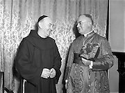 05/10/1952<br /> 10/05/1952<br /> 05 October 1952<br /> His Excellency Gearald O'Hara, Papal Nuncio, with Fr. Cormoc Superior, The Nuncio was at the Friary on Merchants Quay, Dublin to preside over one of the Novena Masses.