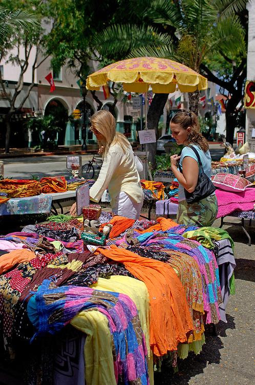 Outdoor Shopping, State Street, Downtown, Santa Barbara, California, United States of America