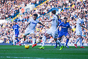 Tyler Roberts of Leeds United (11) shoots during the EFL Sky Bet Championship match between Leeds United and Bolton Wanderers at Elland Road, Leeds, England on 23 February 2019.