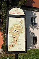The Royal Route sign in Krakow Poland