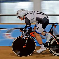 Kirsten Wild, Vliegende start, onderdeel Omnium, KN Baan 2014 Sportpaleis Alkmaar